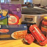 Ingredients in crock pot lasagna