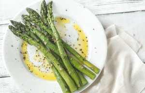 The dressing is delicious drizzled over crisp tender cold asparagus