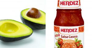 avocado and Herdez Salsa